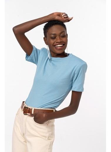 Coral Pamuklu T-Shirt Body Mavi Mavi